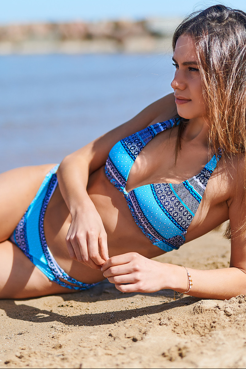 Maillot de bain Nana Sun triangle coque Blue